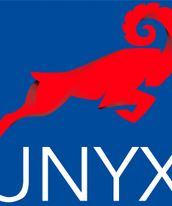 UNYX Logo with name and Sensycal colors